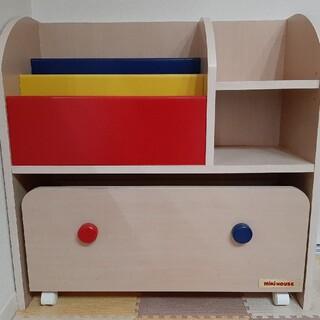 ミキハウス(mikihouse)のミキハウス ブックシェルフ 本棚 美品 子供 家具(収納/チェスト)