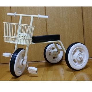 ムジルシリョウヒン(MUJI (無印良品))の無印良品 三輪車カゴ付き(白)(三輪車)