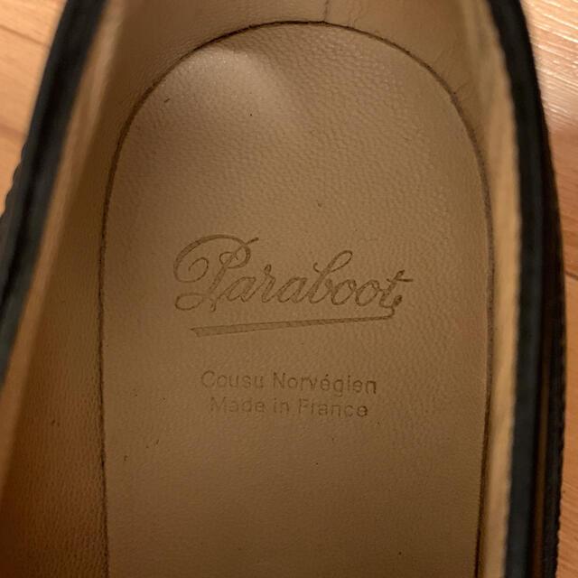 Paraboot(パラブーツ)の【美品】PARABOOTパラブーツCHAMBORDシャンボード黒サイズ8 メンズの靴/シューズ(スリッポン/モカシン)の商品写真