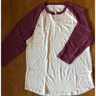 オールドネイビー(Old Navy)のハワイで購入 新品・未使用 OLD NAVY  七分丈T  Lサイズ(Tシャツ/カットソー(七分/長袖))