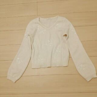 ウィルセレクション(WILLSELECTION)の美品 ウィルセレクション ホワイトニット M(ニット/セーター)