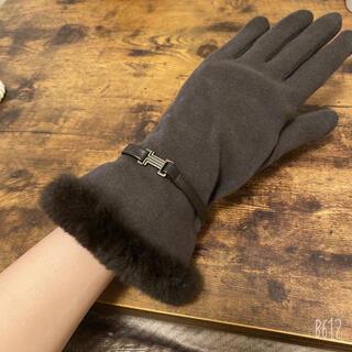 ランバンコレクション(LANVIN COLLECTION)のランバン 手袋 ファー付き スマホ対応(手袋)