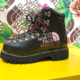グッチ(Gucci)の【即日発送】Gucci North Face コラボ ブーツ 黒 極少23cm(ブーツ)