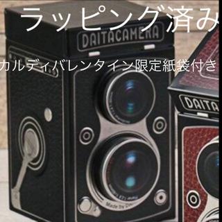 カルディ(KALDI)のカルディ レフレックスカメラ缶 カルディチョコ カルディバレンタイン限定紙袋(菓子/デザート)