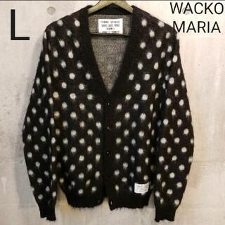 WACKO MARIA - WACKOMARIAワコマリア ドットモヘヤ混カーディガン 黒白 L