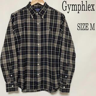 ジムフレックス(GYMPHLEX)のGymphlex ジムフレックス 胸ロゴ 刺繍 チェックシャツ ネルシャツ M(シャツ)
