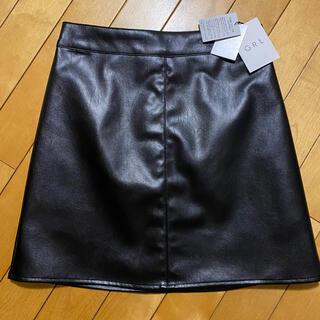 グレイル(GRL)のタグ付き新品未使用 GRL  レザーミニスカート(ミニスカート)
