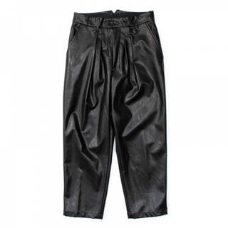 SUNSEA - stein EX WIDE TAPERED TROUSERS(LEATHER)