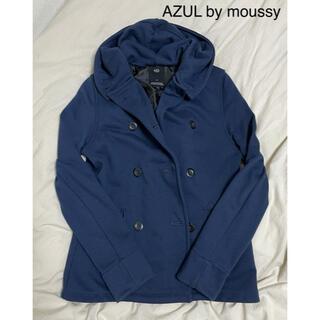 アズールバイマウジー(AZUL by moussy)のスウェット素材ピーコート(ピーコート)