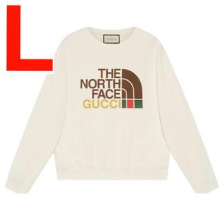 グッチ(Gucci)のGucci North Face スウェット クルーネック Lサイズ(スウェット)