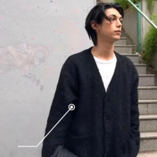 OUR LEGACY CARDIGAN BLACK MOHAIR モヘア