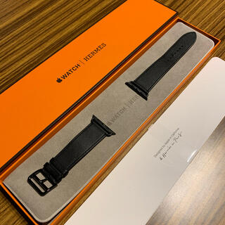 Hermes - Apple Watch Hermes レザーバンド ブラック ☆1回使用☆