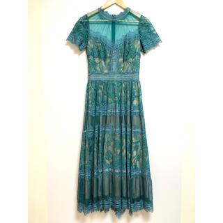 タダシショウジ(TADASHI SHOJI)のTADASHI SHOJI タダシショージ ドレス AWI17173MDRT(ロングワンピース/マキシワンピース)