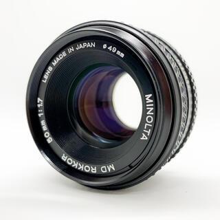 コニカミノルタ(KONICA MINOLTA)のMINOLTA MD ROKKOR 50mm f1.7 良品(レンズ(単焦点))