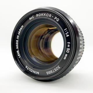 コニカミノルタ(KONICA MINOLTA)のMINOLTA MC ROKKOR-PG 50mm F1.4(レンズ(単焦点))