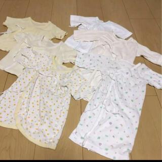 イオン(AEON)の新生児 肌着 各種6枚セット 50-60(肌着/下着)