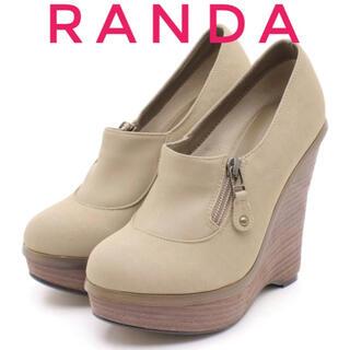 ランダ(RANDA)のRANDA ランダ【新品、未使用】ブーティ ヒール パンプス(ブーティ)