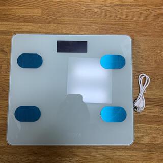 体重計 USB充電式 コンパクト(中古.ホワイト)(体重計)