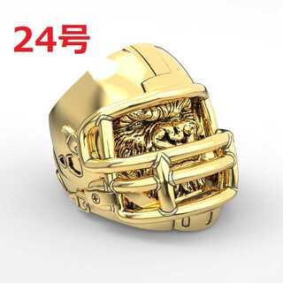迫力抜群 ゴリラ エイプ アメフト マスク 指輪 海外限定 ゴールド 24号(リング(指輪))