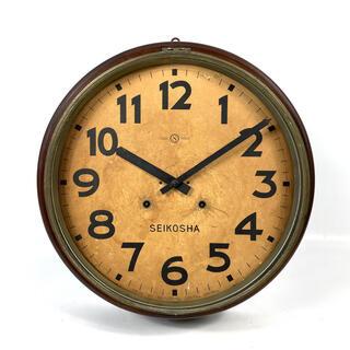 セイコー(SEIKO)の【現状品】精工舎 SEIKOSHA アンティーク 壁掛けゼンマイ時計 レトロ(掛時計/柱時計)