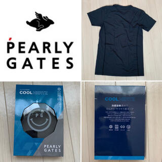 パーリーゲイツ(PEARLY GATES)の新品■5,280円【パーリーゲイツ 】クールネックシャツ メンズM  ブラック(ウエア)