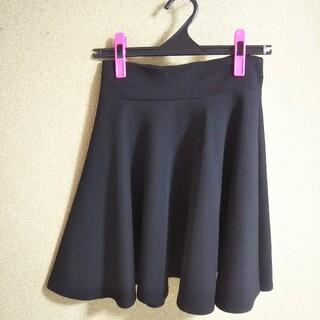 フレアスカート ミニ 黒 (フリーサイズ)(ミニスカート)