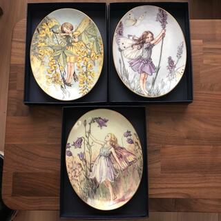 ロイヤルウースター(Royal Worcester)のroyal worcester 花の妖精 絵皿3枚セット(食器)