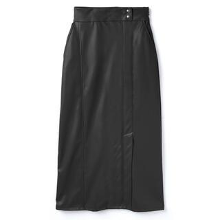 セール!レザースカート フェイクレザー 革 ロングスカート おしゃれ 黒 モード(ロングスカート)