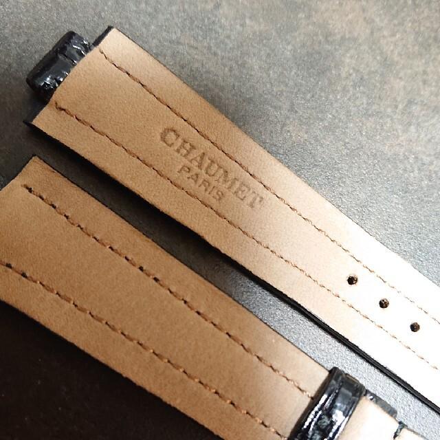 CHAUMET(ショーメ)の【未使用】CHAUMET(ショーメ)腕時計 革ベルト 10㎜/20㎜ レディースのファッション小物(腕時計)の商品写真