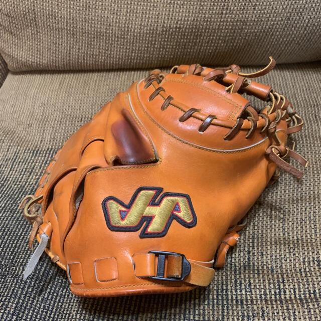 HATAKEYAMA(ハタケヤマ)の人気『HATAKEYAMA』硬式キャッチャーミット ハタケヤマ 高校野球対応 スポーツ/アウトドアの野球(グローブ)の商品写真