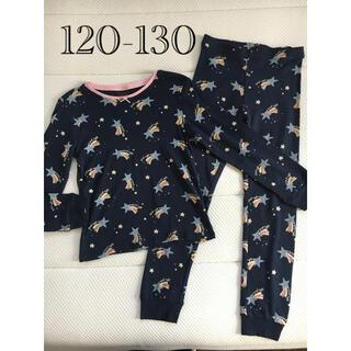 エイチアンドエム(H&M)の新品▪️H&M 星柄 長袖カットソーパジャマ♡120 130 ネイビー スター(パジャマ)