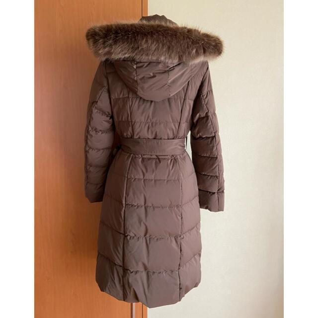 rienda(リエンダ)のリエンダ 今季 Faux Fur ミディライトダウンCT ブラウン レディースのジャケット/アウター(ダウンコート)の商品写真