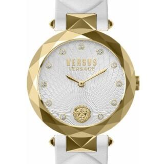 VERSACE - ヴェルサスヴェルサーチホワイトレザーバンドレディースウォッチ 腕時計 女性