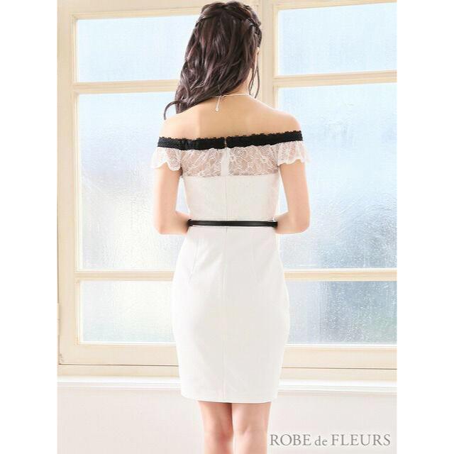 ROBE(ローブ)のローブドフルール リボンオフショルタイトミニドレス レディースのフォーマル/ドレス(ミニドレス)の商品写真
