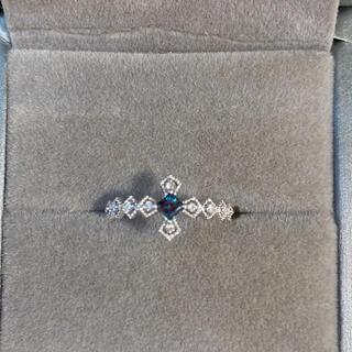 美品✨天然アレキサンドライト ダイヤモンド k18wg リング 14号(リング(指輪))