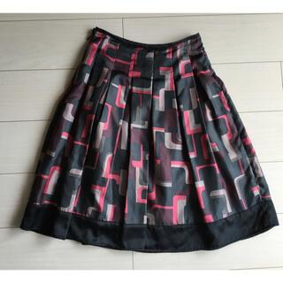 コムサイズム(COMME CA ISM)の柄スカート Sサイズ(ひざ丈スカート)