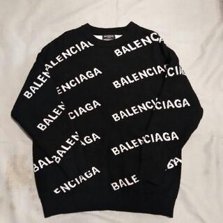 Balenciaga - BALENCIAGA バレンシアガ19SS オールオーバーロゴクルーネックニ