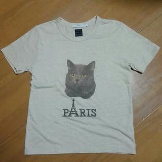 エフィレボル(.efiLevol)の.efilevol エフィレボル  Paris Tシャツ ネコ 美品(Tシャツ/カットソー(半袖/袖なし))