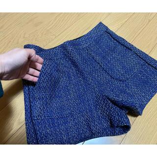 ジーユー(GU)のGU スウェード ショートパンツ ブルー(ショートパンツ)