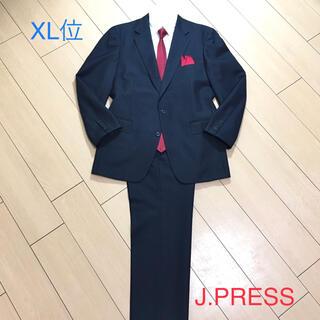 ジェイプレス(J.PRESS)の極美品★ジェイプレス×高級ネイビー スーツ パンツ×2本★ウール素材◎A463(セットアップ)