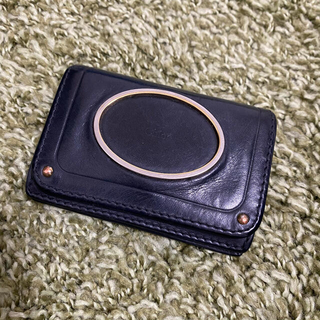 クロエ(Chloe)のクロエ カードケース ブラック(名刺入れ/定期入れ)