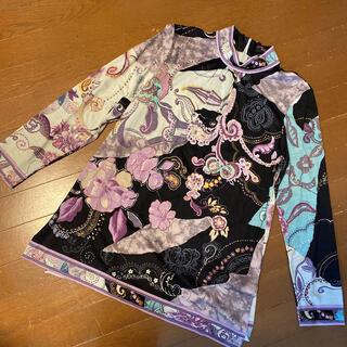 LEONARD - 極美品レオナールの綺麗な花柄ジャージー カットソー サイズL L LEONARD