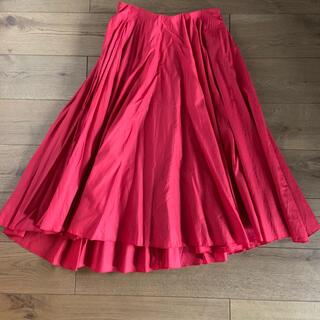 ストロベリーフィールズ(STRAWBERRY-FIELDS)のストロベリーフィールズ フレアスカート ロングスカート赤(ロングスカート)