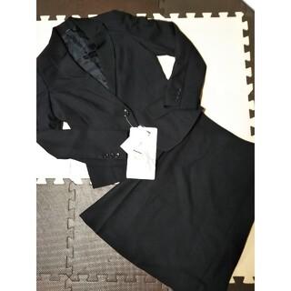ニッセン(ニッセン)の新品タグ付 2点セット 5号 ブラック 黒 リクルートスーツ 1つボタン(スーツ)