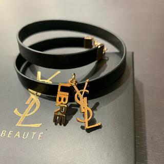 サンローラン(Saint Laurent)の新品 希少 イヴサンローラン LIBRE レザー ブレスレット 2連レザー(ブレスレット/バングル)