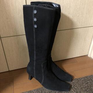 ピッティ(Pitti)のスエード ロングブーツ 黒 (ブーツ)