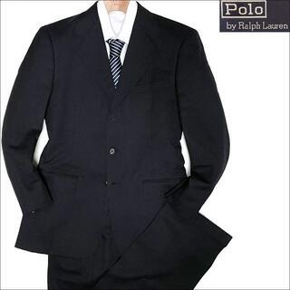ポロラルフローレン(POLO RALPH LAUREN)のJ3073 美品 ポロラルフローレン ストライプスーツ ブラック Y5(セットアップ)