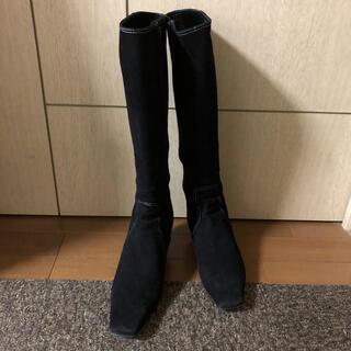 ピッティ(Pitti)の【確認用】スエード ロングブーツ 黒 (ブーツ)