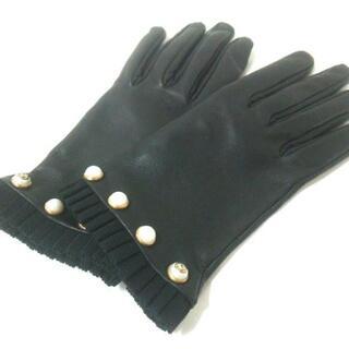 Gucci - グッチ 手袋 7 1/2 M レディース美品  黒