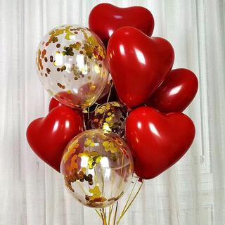 【8枚】ハートバルーン 風船 バレンタイン 結婚式 誕生日 パーティー